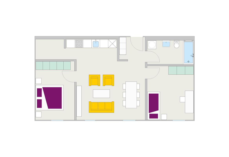Riva Home Wohnungsplan